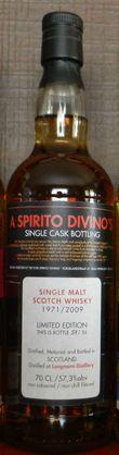 Longmorn 1971/2009, 57.3%, OB for Spirito Divino