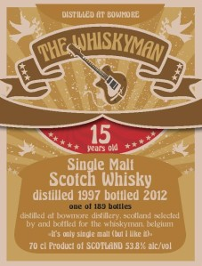 Bowmore 15 YO 1997 'It's only single malt but I like it, 53.8%, The Whiskyman