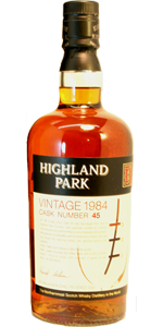 Highland Park 20 YO 1984/2004, 57.9%, OB for the German market, cask 45