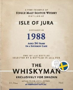Isle of Jura 24 YO 1988/2013, 51.3%, The Whiskyman for Viking Lines, Sweden