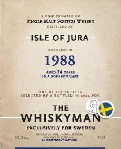 Isle of Jura 24 YO 1988/2013, 51.3%, The Whiskyman for Viking Lines, Sweden