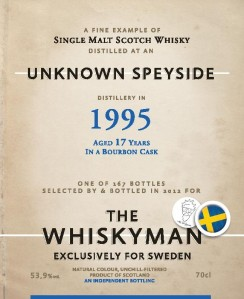 Speyside Malt 17 YO 1995/2013, 53.9%, The Whiskyman for Viking Lines, Sweden