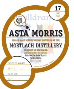 Mortlach 17 YO 1995/2012, 50.2%, Asta Morris for Fulldram, cask AM022