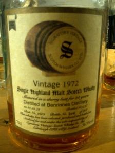Benrinnes 24 YO 1972, 56.3%, Signatory, cask 9602