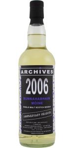 Bunnahabhain 'Mòine' 5 YO 2006/2012, 61.1%, Archives, Whiskybase, Anniversary Release, Bourbon hogshead #800041
