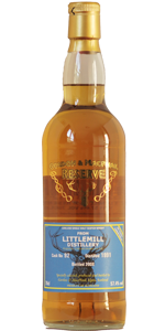 Littlemill 17 YO 1991/2008, 57.4%, Gordon & MacPhail Reserve, refill bourbon barrell #92