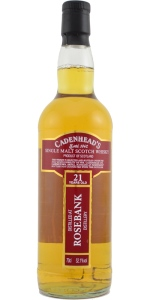 Rosebank 21 YO 1991/2012, 52.1%, Cadenhead's Closed Distilleries, bourbon barrel
