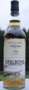 Tomatin 24 YO 1988/2013, 48.7%, Eifelboys & Vinothek Massen, first fill bourbon