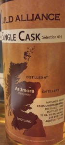 Ardmore 20 YO 1992, 51.3%, The Auld Alliance