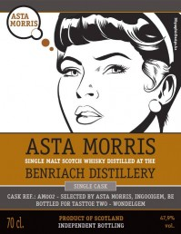 Benriach, 47.9%, Asta Morris for Tasttoe Two, AM 002