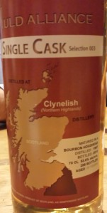 Clynelish 15 YO 1997/2013, 53.6%, The Auld Alliance, selection 003