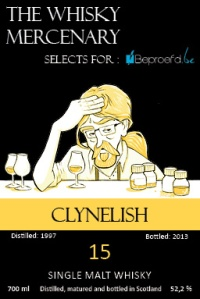 Clynelish 15 YO 1997/2013, 52.2%, The Whisky Mercenary for Beproefd.be