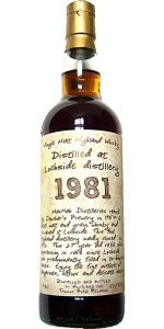 Lochside 1981/2011, 50.5%, Thosop handwritten label