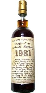 Lochside 1981/2011, 50.5%, Thosop handwritten label